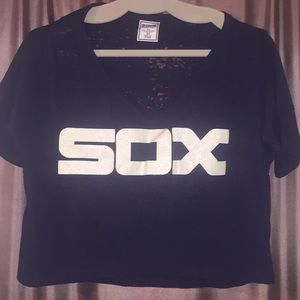 Victoria's Secret White Sox Crop Top